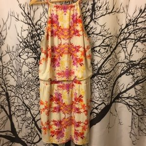 Floral orange dress sz 8 BISOU BISOU